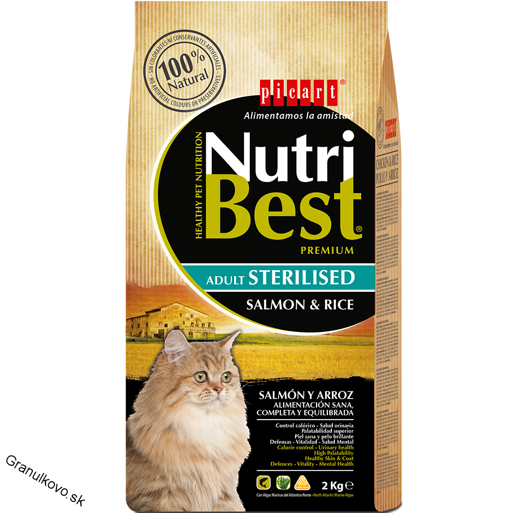 NutriBest Adult Sterilised Salmon & Rice 2 kg 28/9