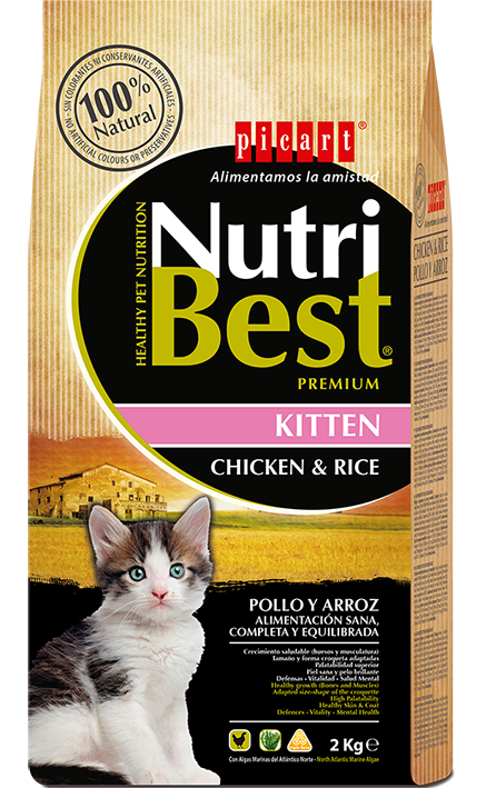 NutriBest Kitten Chicken & Rice 2 kg 32/14