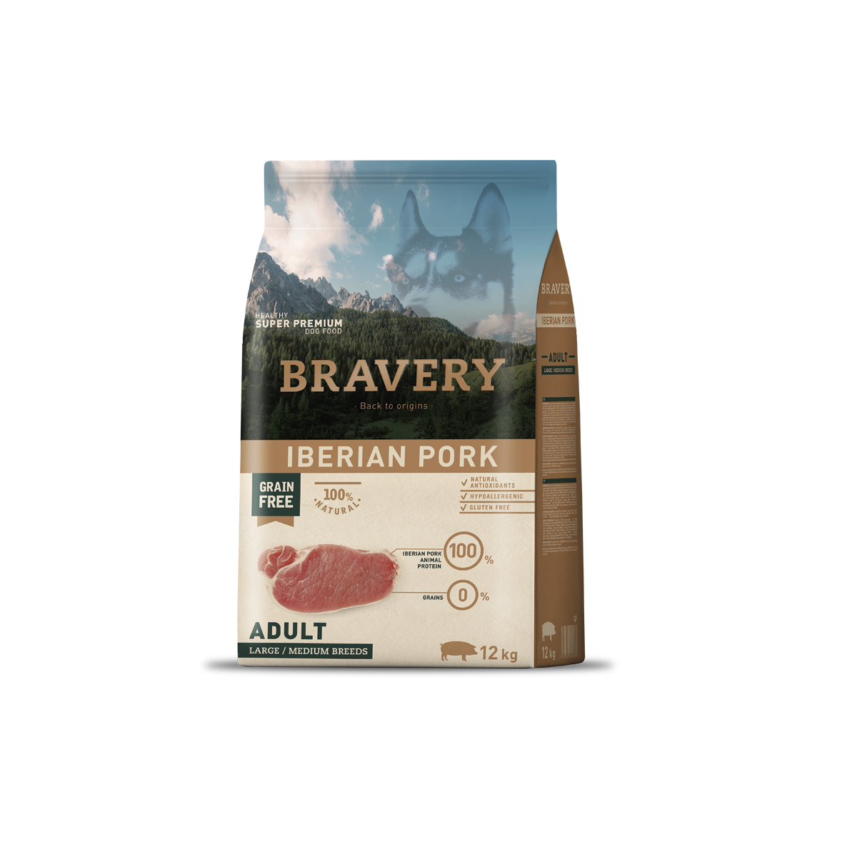 Bravery ADult Medium/Large Iberian Pork 26/15